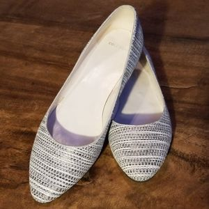 Cole Haan black and white patterned flats, Sz 7